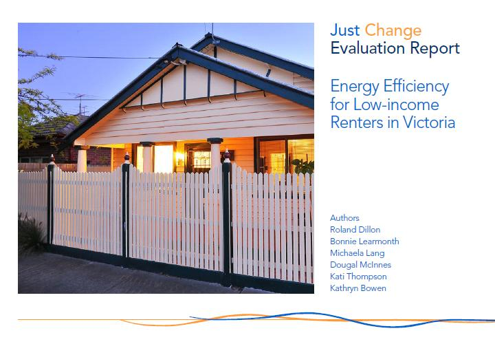 Just Change Evaluation Report: Energy Efficiency for Low-income Renters in Victoria