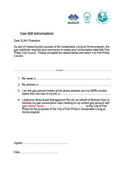 SLAH Gas Consent Form