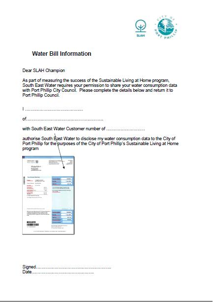 SLAH Water Consent Form